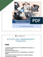 4. Activos Fijos y Arrendamiento Financiero NIC 16-17-36