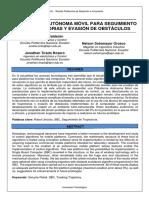 PLATAFORMA AUTÓNOMA MÓVIL PARA SEGUIMIENTO DE TRAYECTORIAS Y EVASIÓN DE OBSTÁCULOS