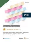 Canasta básica alimentaria y canasta básica total de Gran Buenos Aires