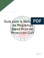 Guía Programa Específico de Protección Civil