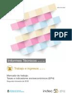 Informe Empleo Indec Segundo Trimestre 2018