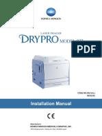 Konica Drypro832 Install(0921YF220A)