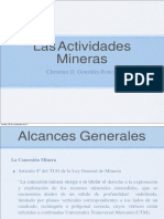 Actividades de La Mineria