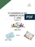 Cuadernillo de Ambientación 1er Año