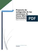 Proyecto de Mitigación de Las Emisiones de Gases Efecto Invernadero
