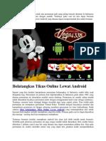 Bolatangkas Tikus Online Lewat Android
