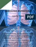 caza del tesoro - semiologia respiratoria