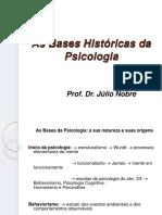 As Bases Históricas Da Psicologia