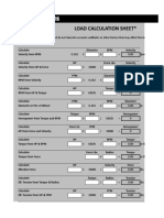 ESR Load Calculation Sheet 2011