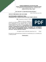 Notificación a Duberlí Rodríguez