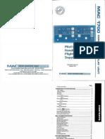 MAC 1700 Manual