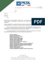 Carta de Presentacion Mcsil PDF