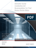 Info Security Considerations for IT Decision Makers - Redspin Information Security
