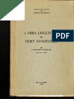Obra Linguistica por Curt Nimuendaju