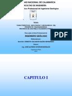 CARACTERÍSTICAS  GEOLÓGICAS Y GEOQUIMICAS  DEL      PROSPECTO  HUAYQUISHONGO, PROVINCIA DE SAN PABLO DEPARTAMENTO DE CAJAMARCA