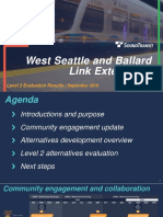 West Seattle Ballard Stakeholder Advisory Group Meeting Presentation - September 5, 2018