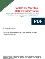 Exoneracion en Materia de Contribuciones y Tasas