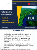 1465650928 TQM - 601 Module 4- Quality Tools - Brainstorming and NGT