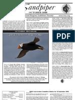 October 2008 Sandpiper Newsletter - Redwood Region Audubon Society