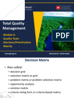 1465651026 TQM - 601 Module 6- Quality Tools - Decision-Prioritization Matrix