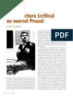 Una Relectura Critica de Marcel Proust
