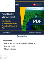1465651169 TQM - 601 Module 12- Quality Method PDCA and PDSA