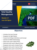 1465651304 TQM - 601 Module 17- Lean Six Sigma Methodology