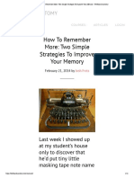 How to Remember More- Two Simple Strategies to Improve Your Memory