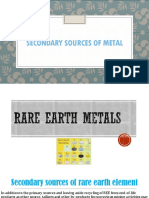 Secondary sources of non-ferrous metals