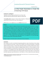 Experimental Investigation of Heat Transfer Characteristics in a Circular Tube Fitted With Triangularcut Twisted Tape Tc