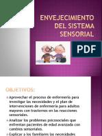 Envejecimiento Del Sistema Sensorial