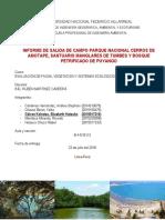 Informe de Viaje de Hidro y Fauna