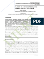 DESIGN & SIMULATION OF ACTIVE POWER FACTOR CONTROLLER USING BOOST CONVERTER