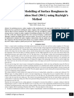 Mathematical Modelling of Surface Roughness in Turning of Stainless Steel (304 L) using Rayleigh's Method