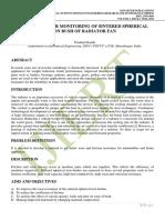 FRICTION & WEAR MONITORING OF SINTERED SPHERICAL IRON BUSH OF RADIATOR FAN