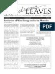 November 2009 Leaves Newsletter, Madrone Audubon Society