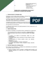 Bachibac - Prueba Oral
