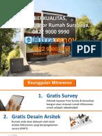 BERKUALITAS, Jasa Kontraktor Rumah Surabaya, 0822 9000 9990