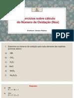 Cálculo Nox
