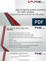 Fully calculated firefighting systems  with EN 12845 standard