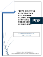 """""""HOW SAMSUNG ELECTRONICS BUILD THEIR GLOBAL PRODUCT STRATEGY THROUGH THE GLOBAL ERA"""""""