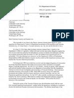 2018-9-6 DOJ Letter to Chairman Grassley and Senator Lee