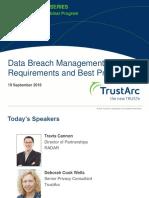 Data Breach Management Best Practices Insights Series | TrustArc