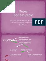 Resep Sediaan obat Padat