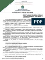 Resolução RDC Nº 33 2008 Regulamento Técnico Para Distribuição de Água Para Hemodiálise.