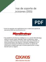 Sistemas de Soporte de Decisiones (DSS)