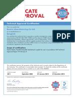 5. UK Cares Bartec Certificate No.5011 TA1-B Year 2018