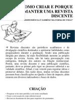 Como Criar e Porque Manter Uma Revista Discente (1)