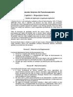 Regulamento Interno de Funcionamento