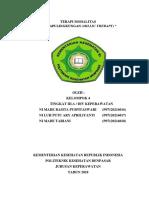 Terapi Modalitas (Terapi Lingkungan )